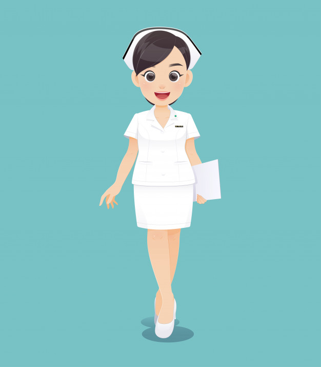 Cartoon Woman Doctor Or Nurse In White Uniform Holding A Clipboard Smiling Female Nursing Staff Vector Illustration In Character Design Character Design Cartoon Female Cartoon Characters