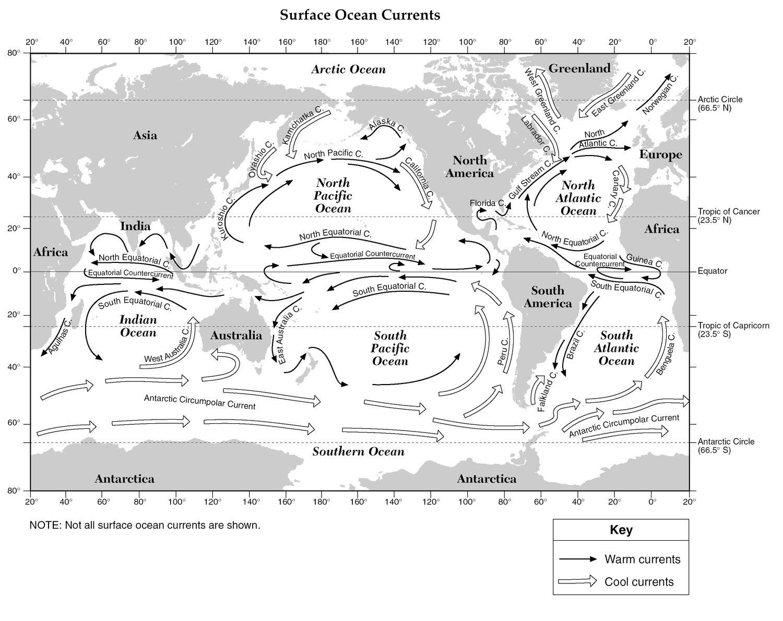 Esrt Currents Jpg Ocean Current Earth And Space Science Handwriting Worksheet Maker