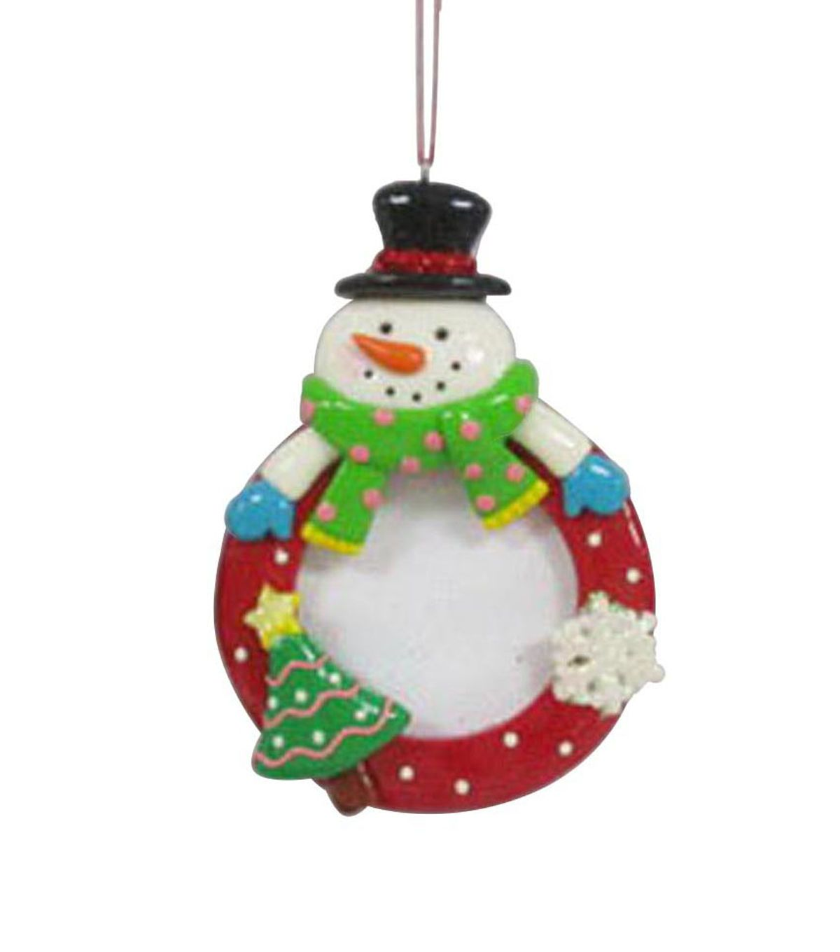 Maker S Holiday Snowman Frame Ornament Christmas Clay Holiday Crafts Photo Frame Ornaments