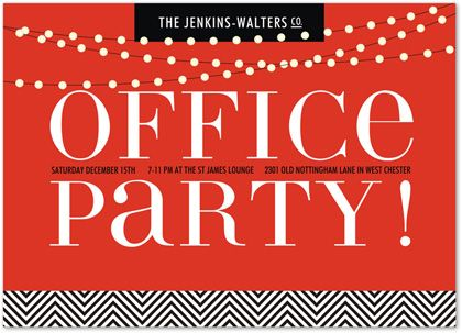 office christmas invitation wording