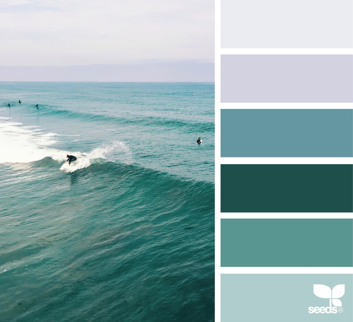Farbpaletten Blau: Farbpalette Blau, Farbpalette Und Bunte Häuser