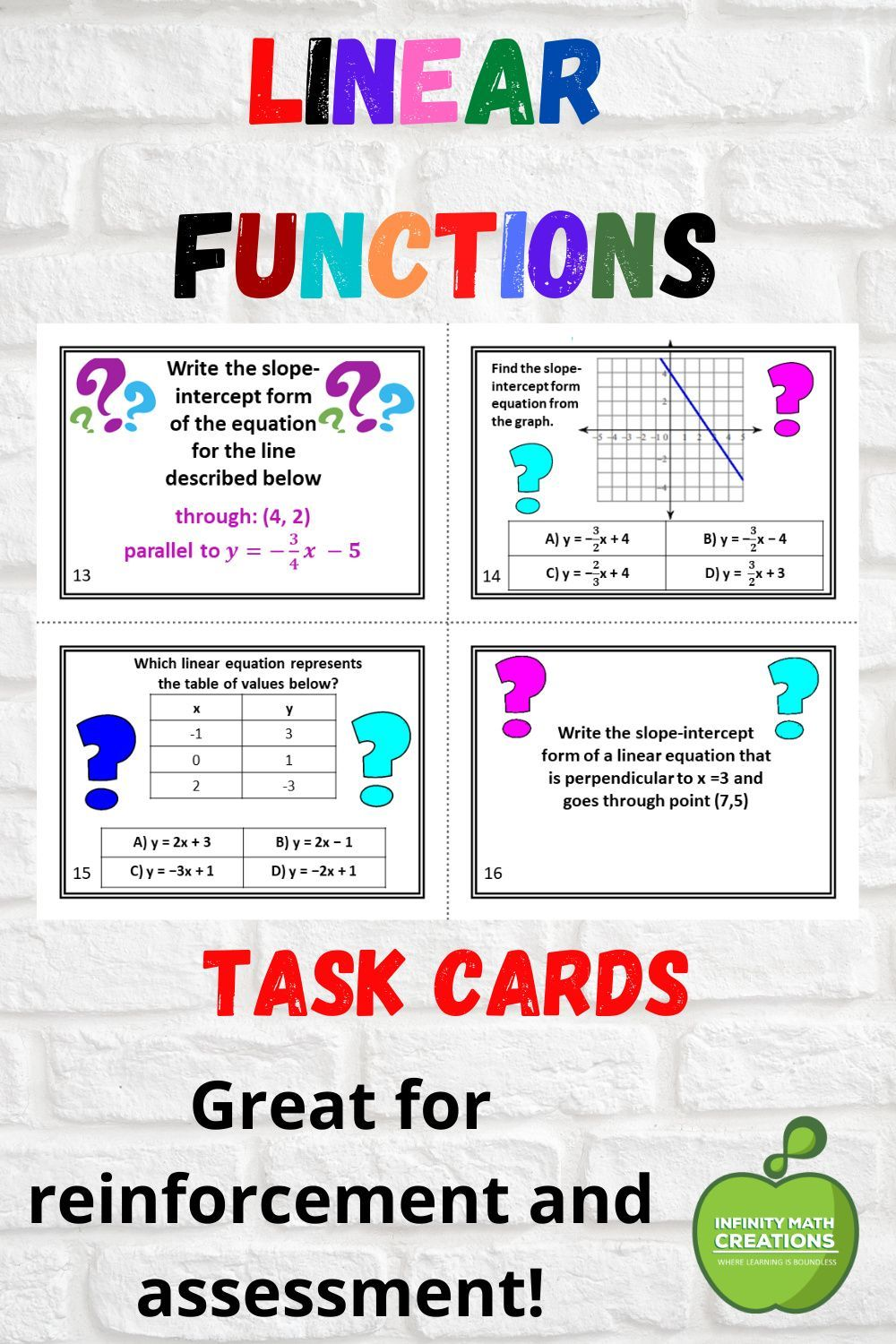 hight resolution of Pin on Math Task Cards