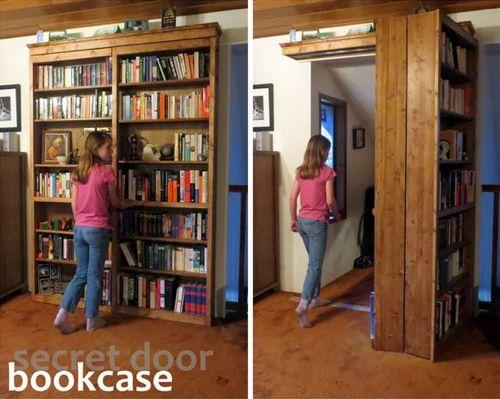How To Build A Sliding Door Bookshelf For Your Secret Room...http:
