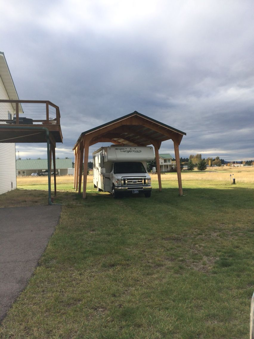 Free standing RV cover. 16 x 36 x 12. Outside storage