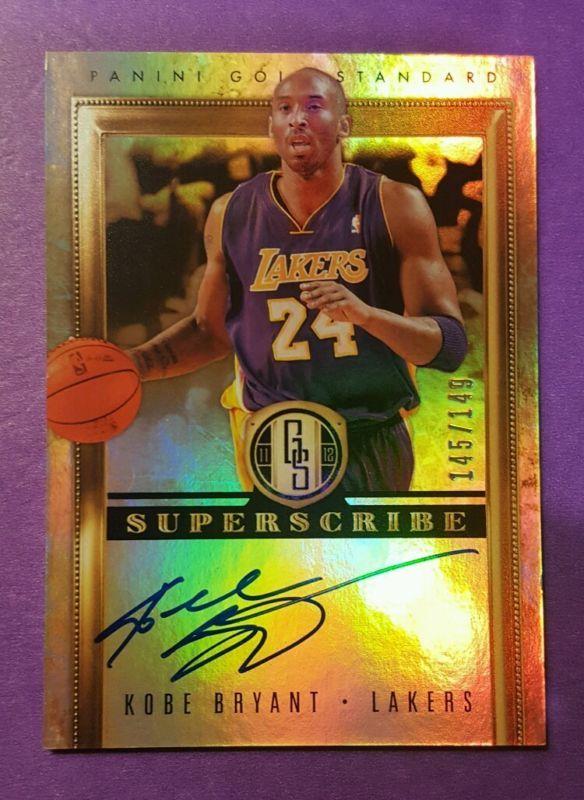 2011 12 Panini Gold Standard Kobe Bryant On Card Auto Cards Basketball Cards Baseball Cards