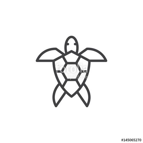 Photo of Sea turtle line icon, outline vector sign, linear style pictogram isolated on white. Symbol, logo illustration. Editable stroke. Pixel perfect – Buy this stock vector and explore similar vectors at Adobe Stock