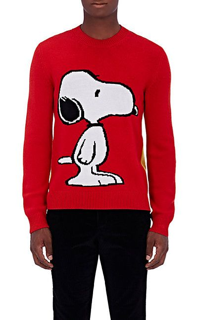 3ebe2015336 Red Snoopy® Wool Sweater by GUCCI  cool  uglysweater  gucci  iceberghistory   PinState