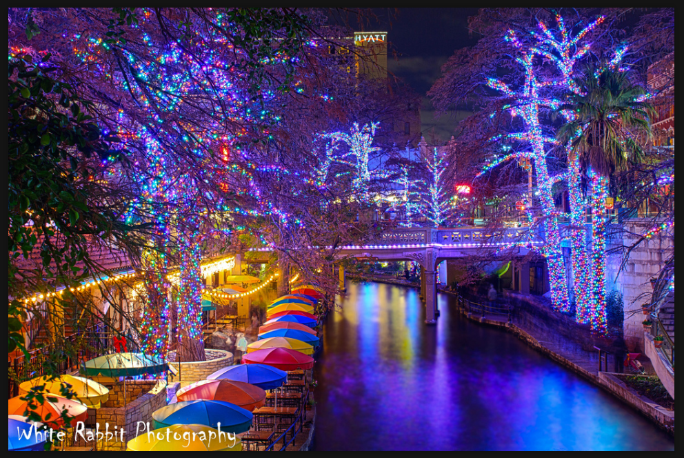 San Antonio Riverwalk During Christmas.San Antonio River Walk At Christmas Breathtaking San