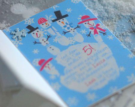 Einladungskarte Winter Kindergeburtstag