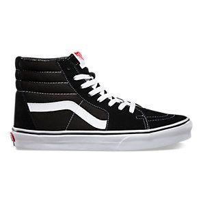 Vans Sk8-Hi - Zapatillas de skateboarding de ante para hombre, color Negro (Schwarz/Weiß), talla 43