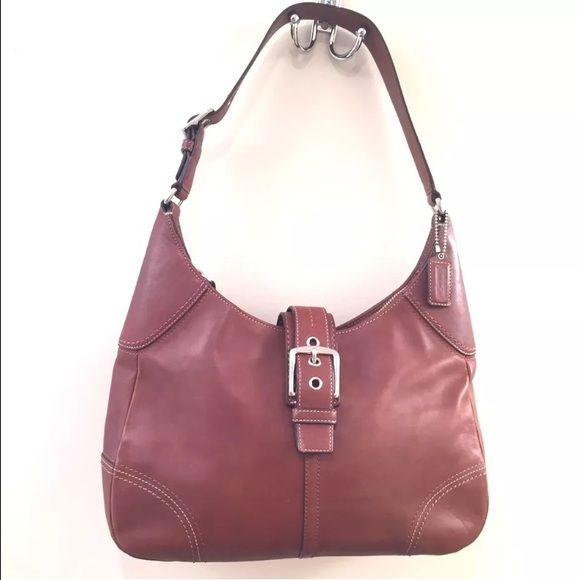 934622830c Coach Brown Leather Shoulder Bag F12601 Bag is in very good