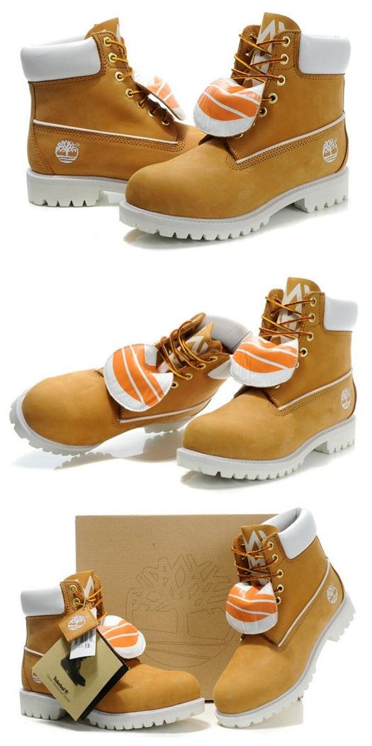 c97b823ad49dd Timberland Men Authentic 6 Inch Double Tongue Bright Leather Boots Wheat  White,Fashion Winter Yellow and White Timberland Men Boots,New timberland  classics ...