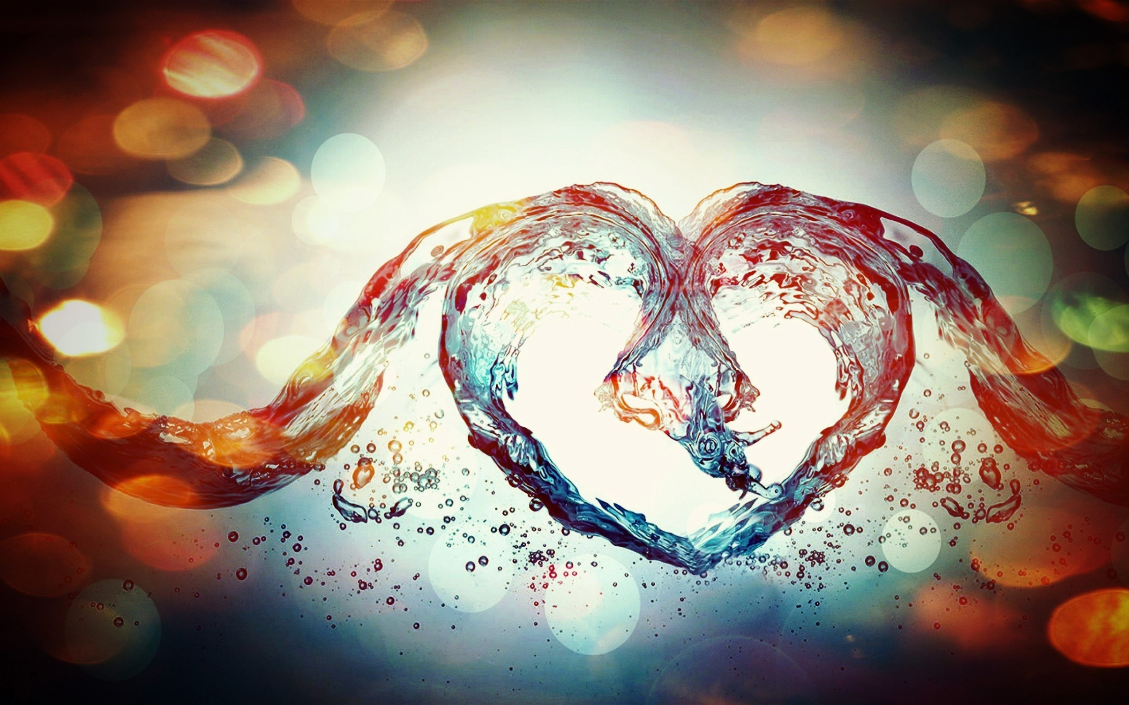 water heart love art 4k ultra hd wallpaper o oshenka