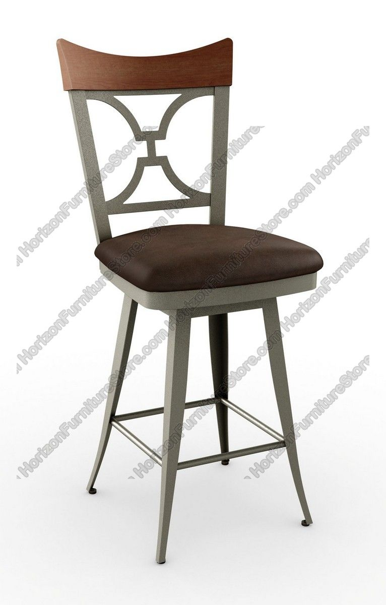 Snugglers Furniture Kitchener Amisco Brandy Swivel Bar Stool 41513 Amisco Barstools