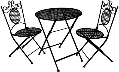 Iron Bistro Cafe Furniture Silhouette Clipart Png Clip Art Printable Digital Downloads Image Graphics D Cafe Furniture Metal Garden Furniture Patio Furnishings