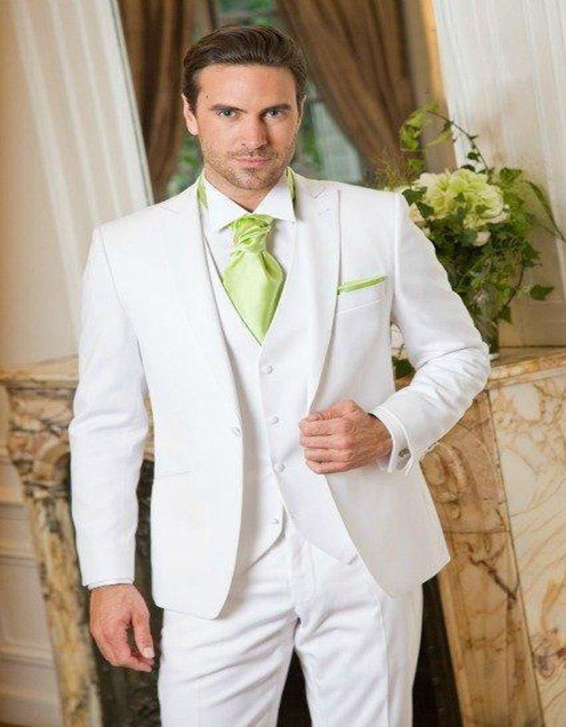 new design peaked lapel white groom tuxedos peak lapel wedding