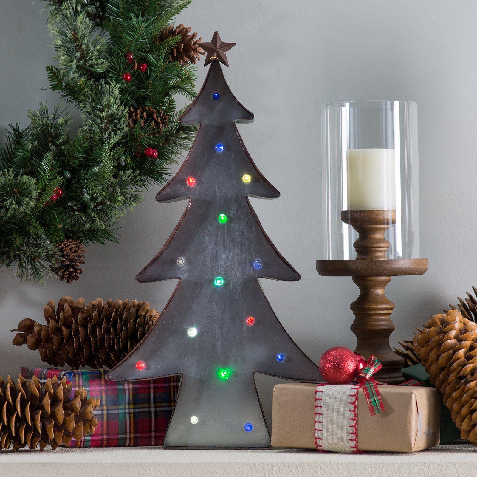 Metal Christmas Tree With Lights