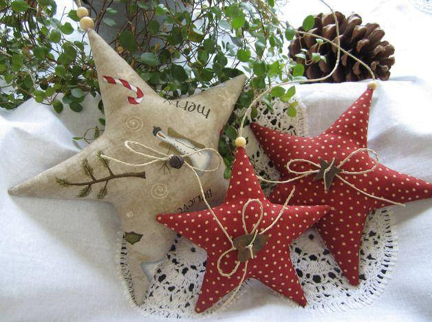 Weihnachtsdeko sterne girlande weihnachten landhaus stil ein designerst ck von feinerlei - Weihnachtsdeko girlanden ...