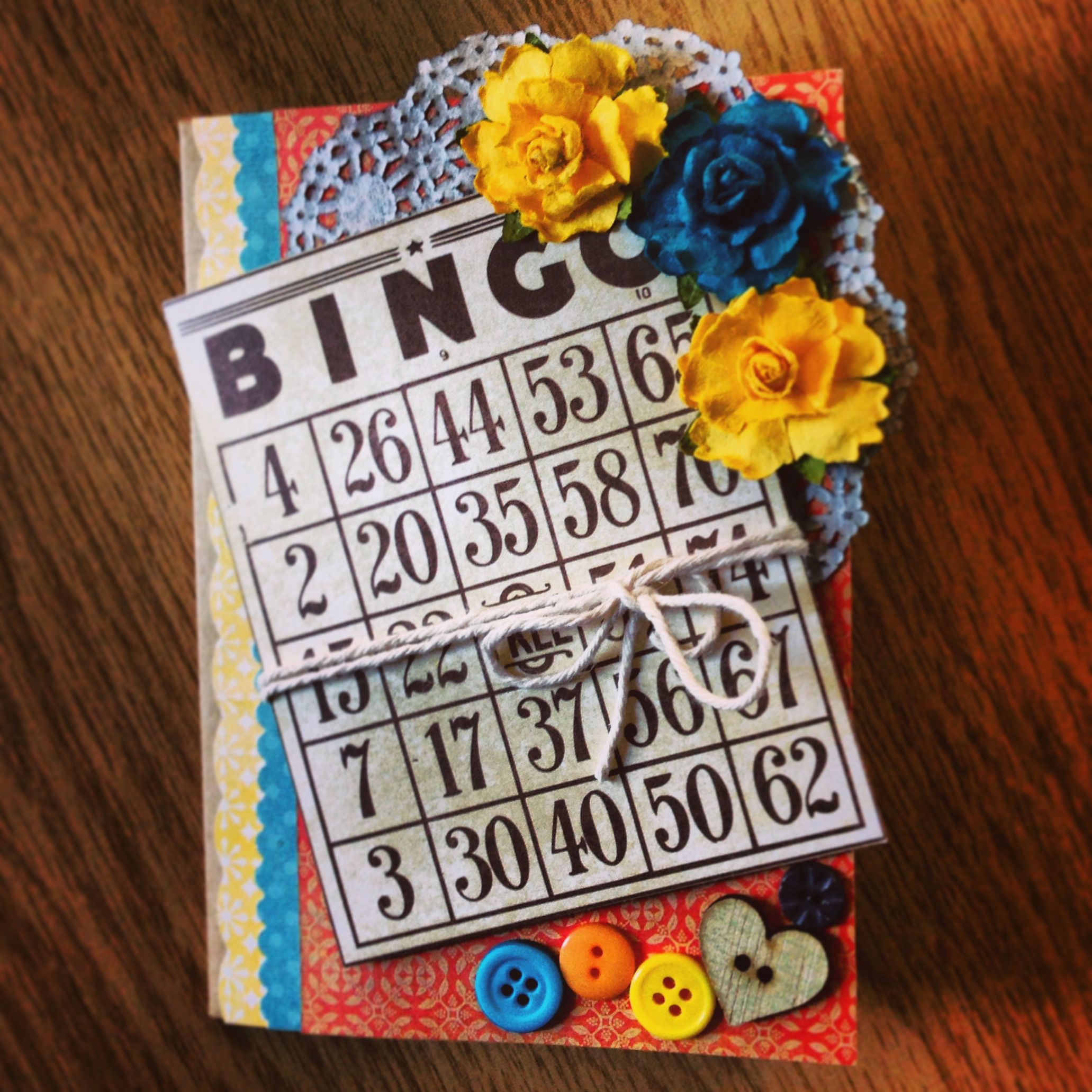 Lovely Vintage Birthday Card For A Bingo Lover Creative Handmade Unusualcards For More Bingo Fun Join Vintage Birthday Cards Birthday Cards Cards Handmade