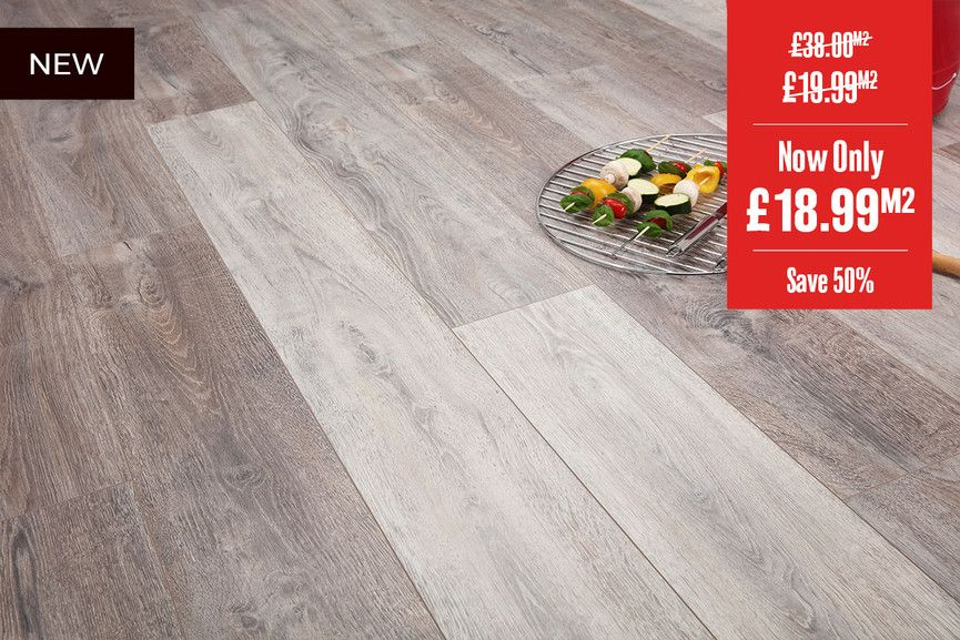 Aqualock 12mm Laminate Flooring French Grey Oak Flooring Laminate Flooring Grey Oak