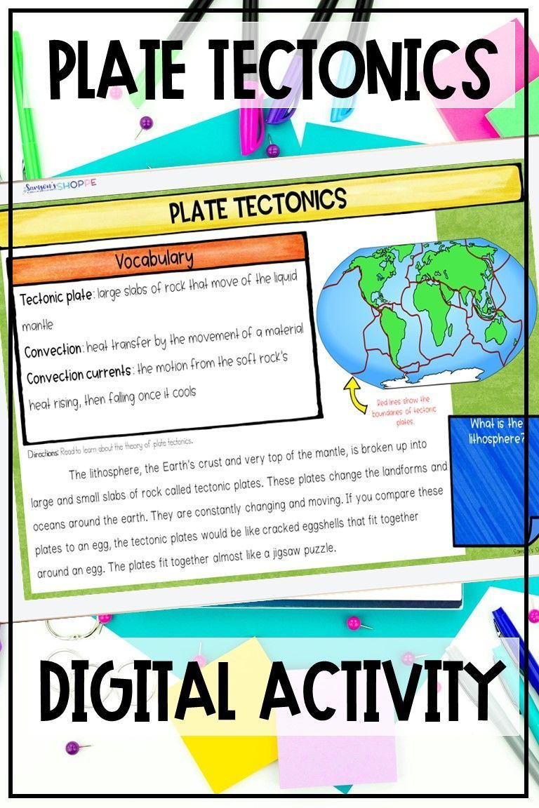 Plate Tectonics And Boundaries Dgital Activity For Upper Elementary And Middle Sc Upper Elementary Science Upper Elementary Resources Teaching Upper Elementary [ 1152 x 768 Pixel ]