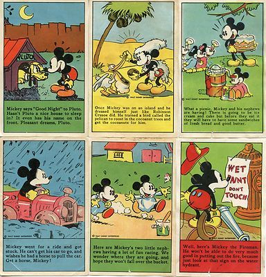 Mickey Mouse Bread recipe cards (1930's)