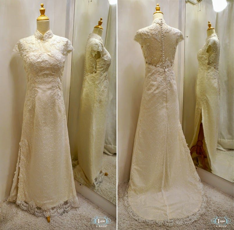 Custom Make Soft Full Lace Wedding Cheongsam for our International ...