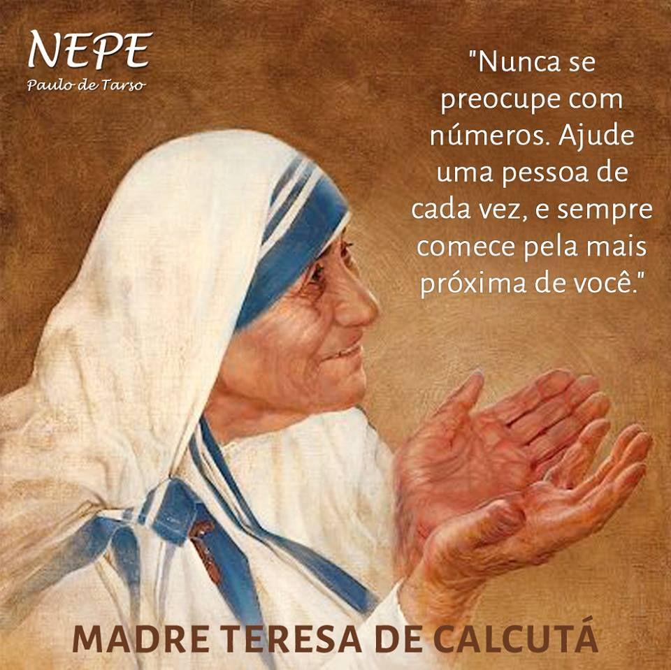 Madre Teresa De Calcuta Mensagem Para Filho Madre Teresa De