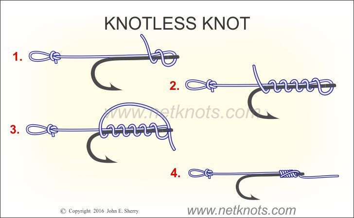 Knotless Knot How To Tie A Knotless Knot Fishing Knots Fishing Knots Knots Tying Fishing Line