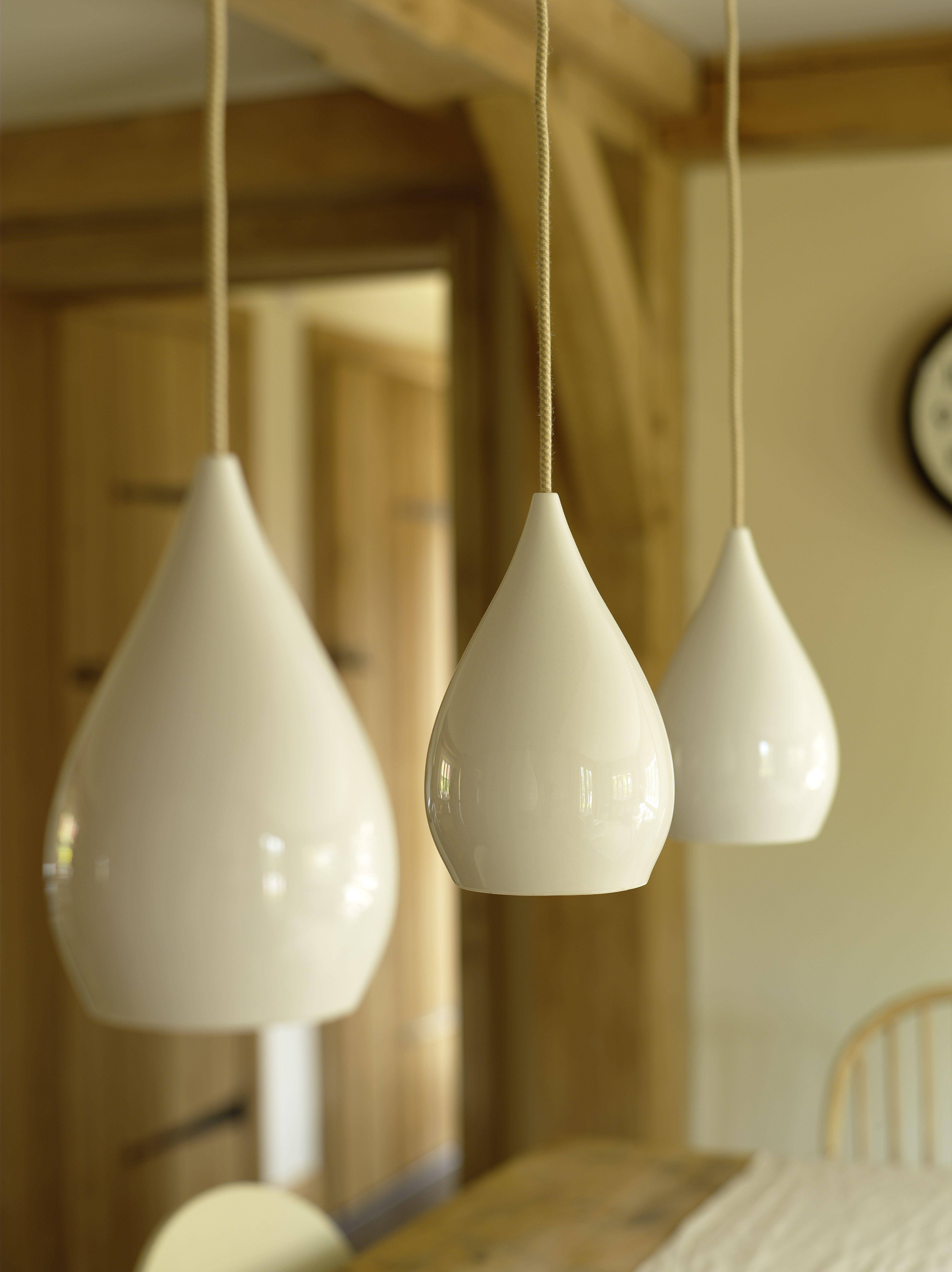 Border Oak Pendant Lighting Over The Kitchen Table