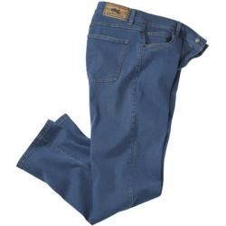 Photo of Blue stretch jeans with regular cut Atlas For Men