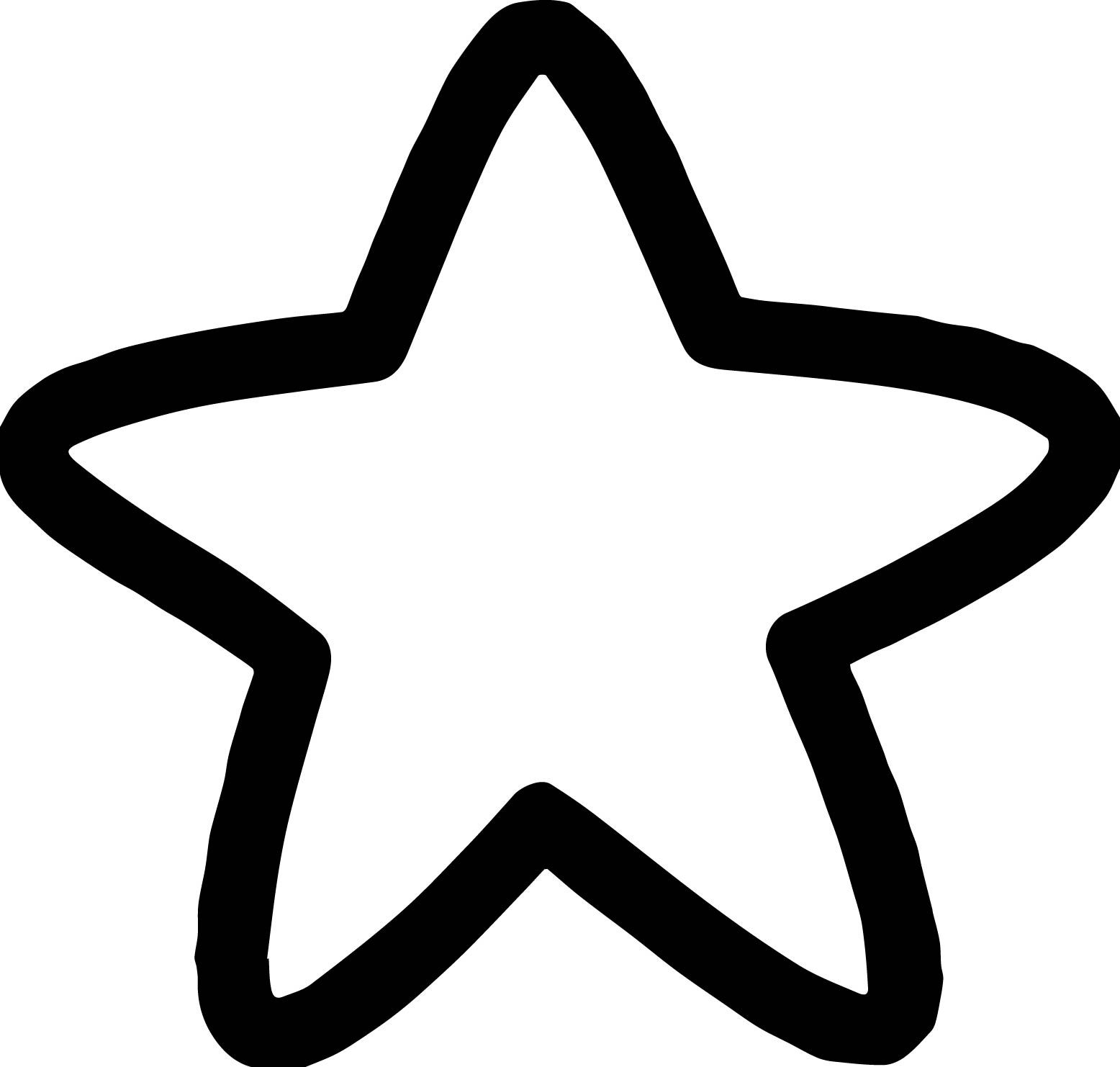 Cool Simple Star Coloring Page Star Coloring Pages Shape Coloring Pages Cartoon Coloring Pages