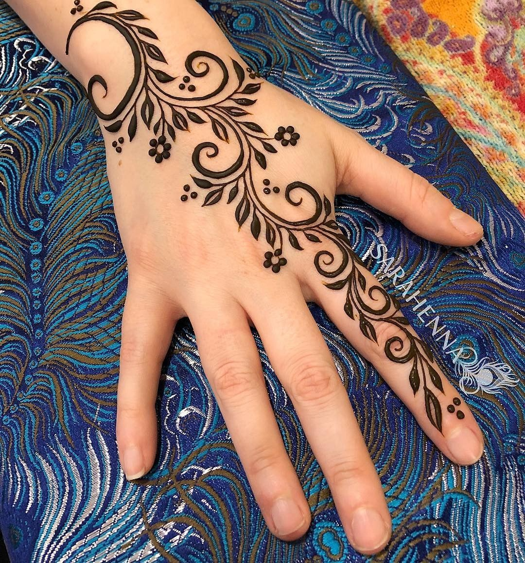 25 Trendy Henna Tattoo Designs To Try For Your Hands: Floral Henna Designs, Henna Tattoo Hand