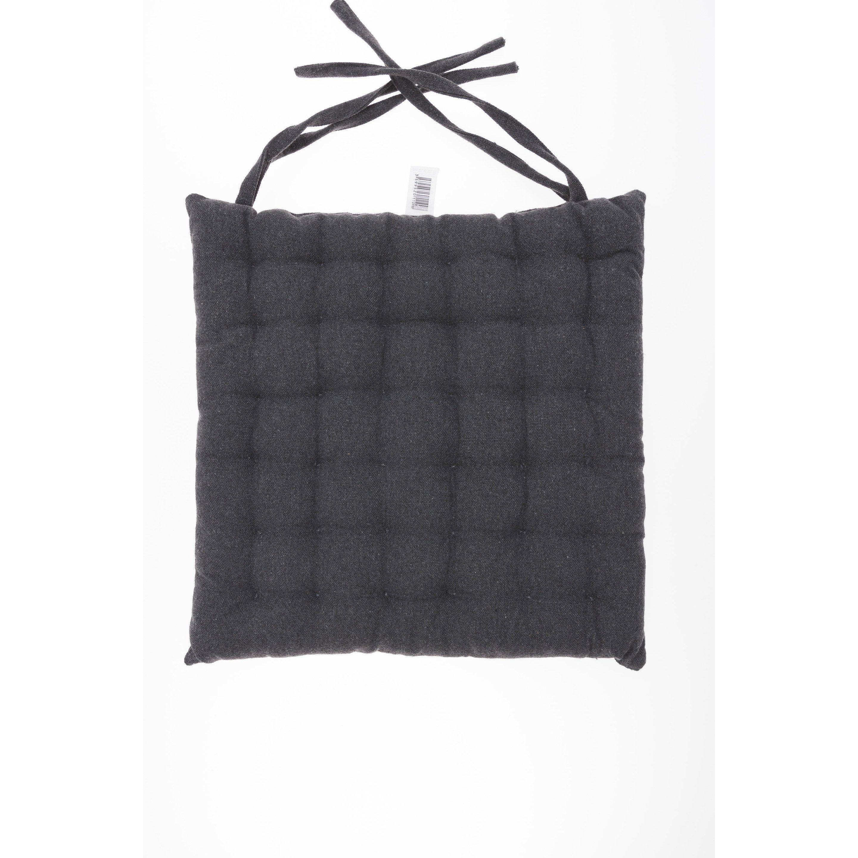 Galette De Chaise Selvan Coton Gris Anthracite L 40 X H 40 Cm Galette De Chaise Galette Et Chaise