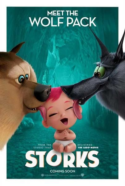 Storks 2016 27x40 Movie Poster Storks Movie Animated Movies