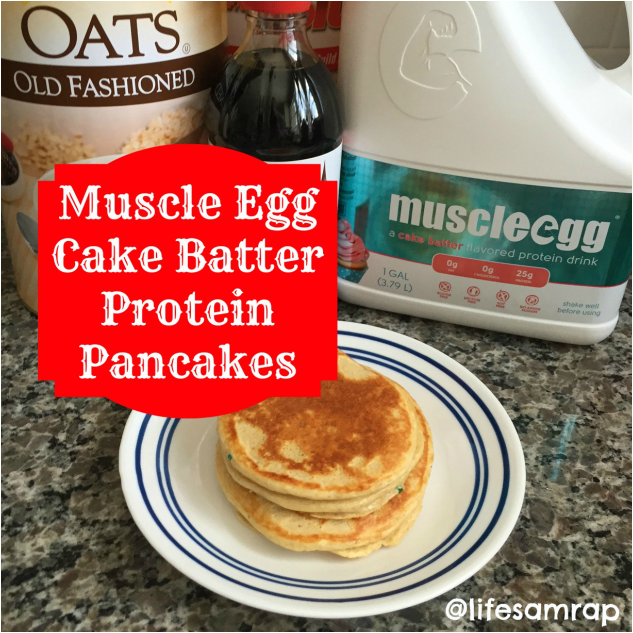 Muscle Egg Cake Batter Protein Pancakes