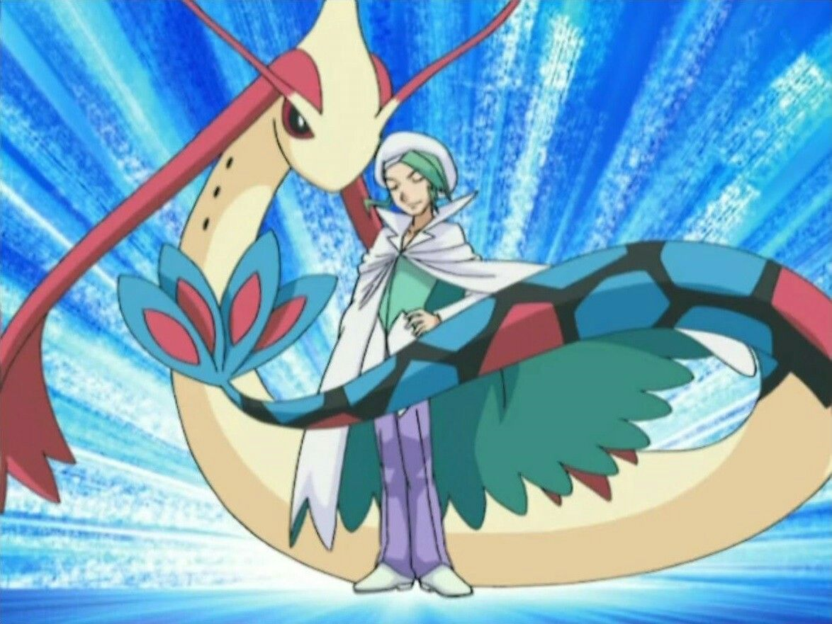 Milotic in this stance. The tail becomes a table