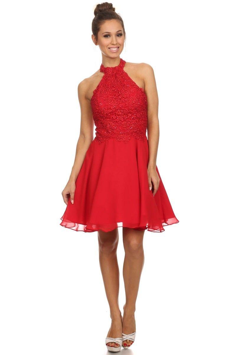 Cocktailkleid 2018 Lidvina in Rot | kleider hochzeitsgast ...