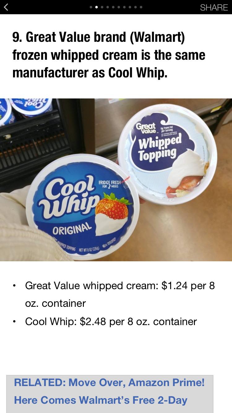 Walmart Secret Shopping Hacks Krazy Coupon Lady Cool Whip