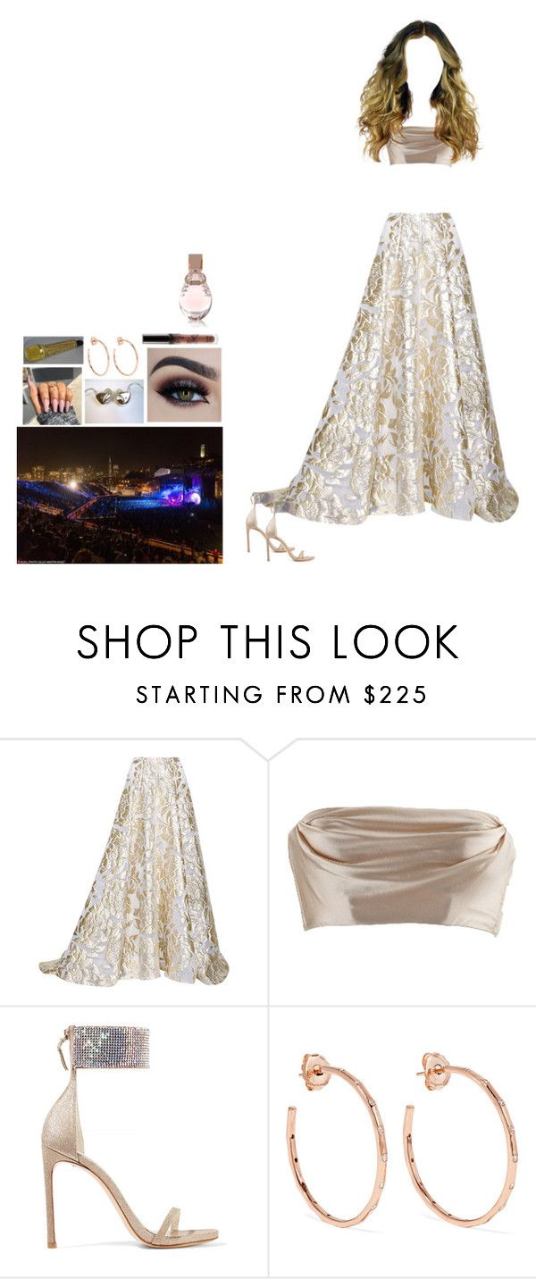 """🎤🎻"" by mija-lee ❤ liked on Polyvore featuring Lela Rose, Stuart Weitzman, Ippolita and GUESS"