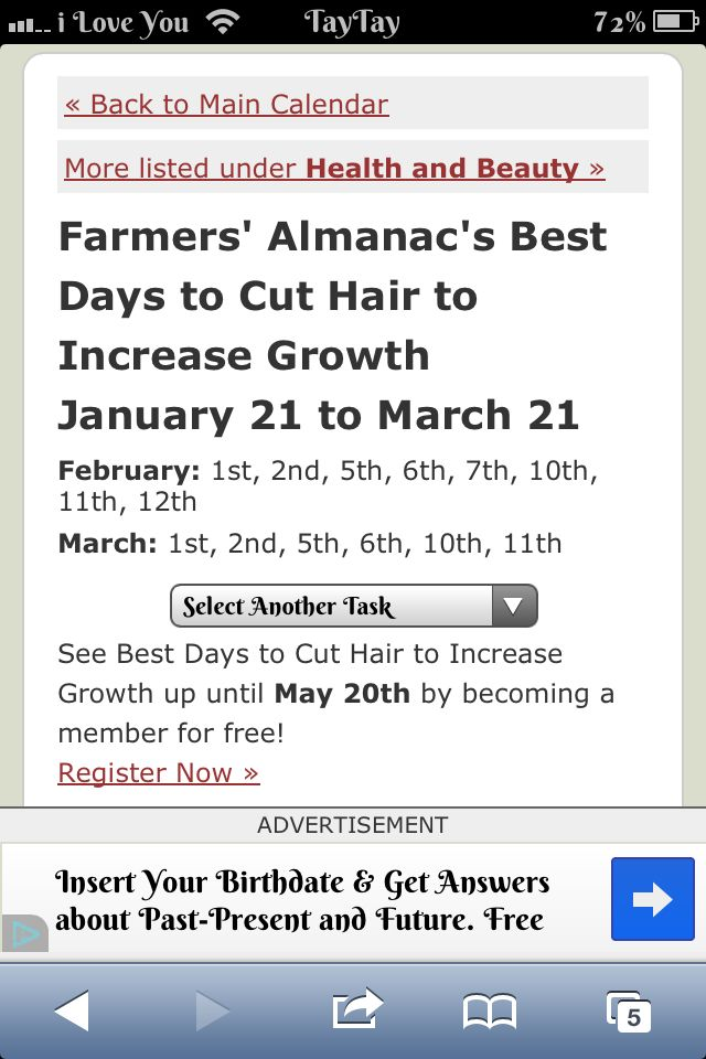 Best Days To Cut Hair For Growth