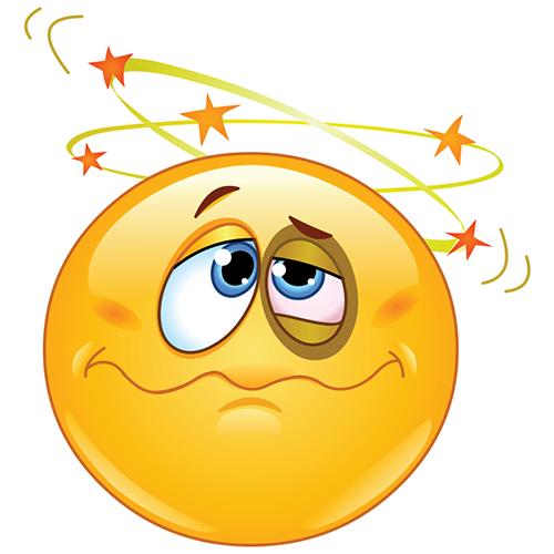 Knocked Out Smiley Emoticonos, Emojis emoticonos y Cara
