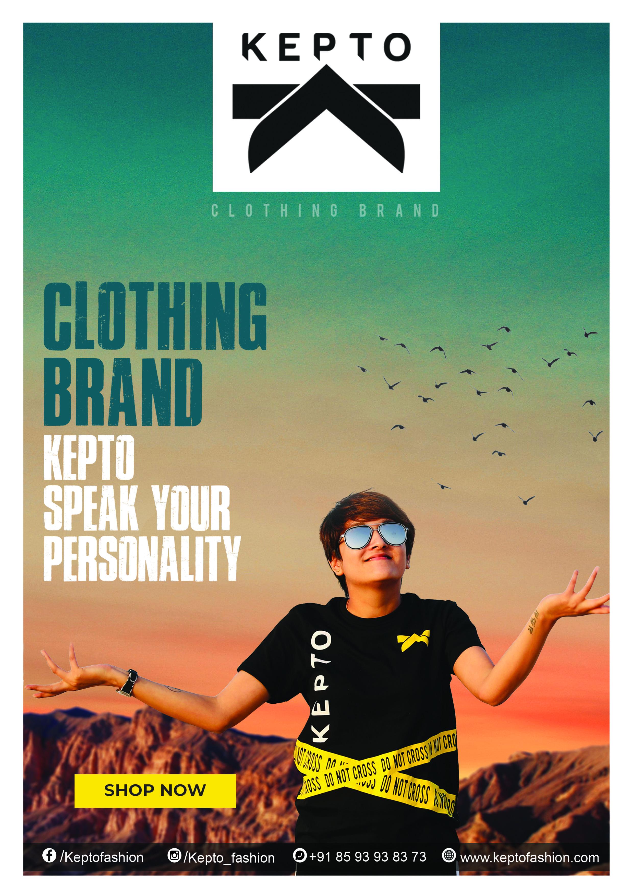 KEPTO CLOTHING BRAND T-SHIRTS SHIRT MODELING FRAME ...
