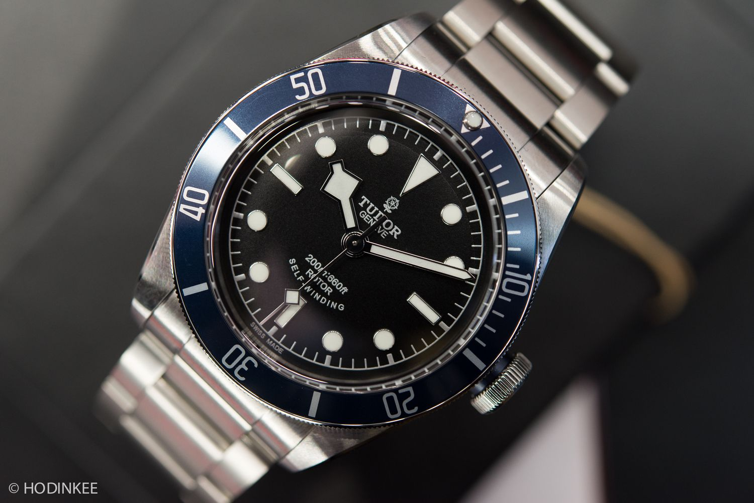 Hands-On With The Tudor Heritage Black Bay With Blue Bezel (And Your First Chance To Buy One In The USA) — HODINKEE - Wristwatch News, Revie...