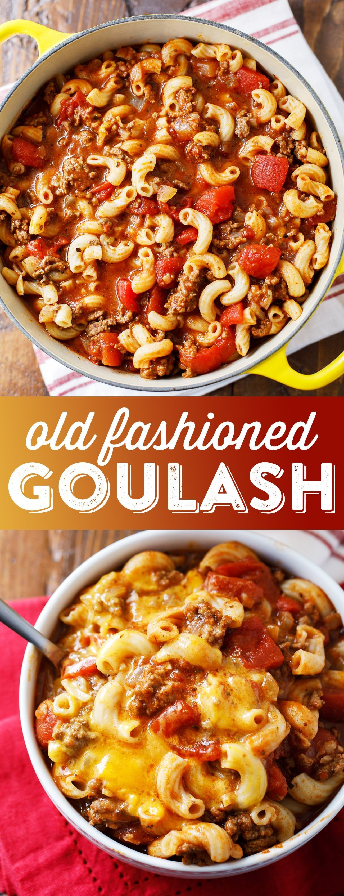 Old Fashioned Goulash These quick and easy enchiladas only call for 5 ingredients and are ready in no time! It's the perfect recipe for a busy weeknight! #gulaschrezept