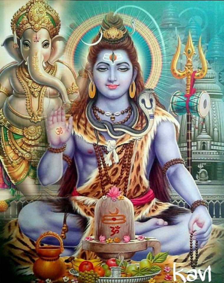 Shiva and Ganesh