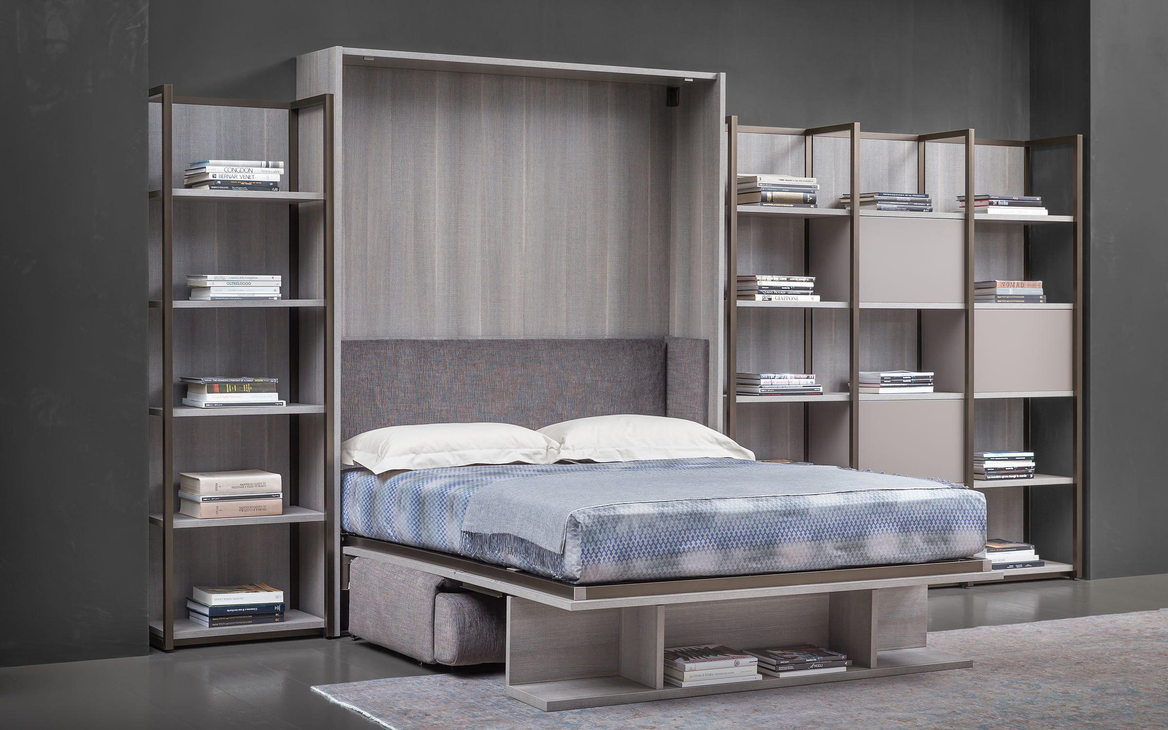 Mobile-parete con letto a scomparsa e divano Flou LONDON ...