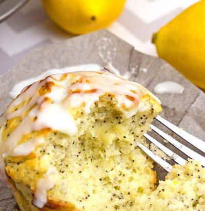 Sour Cream Lemon Poppy Muffins Lemon Poppy Muffins Sour Cream Muffins Sour Cream Recipes