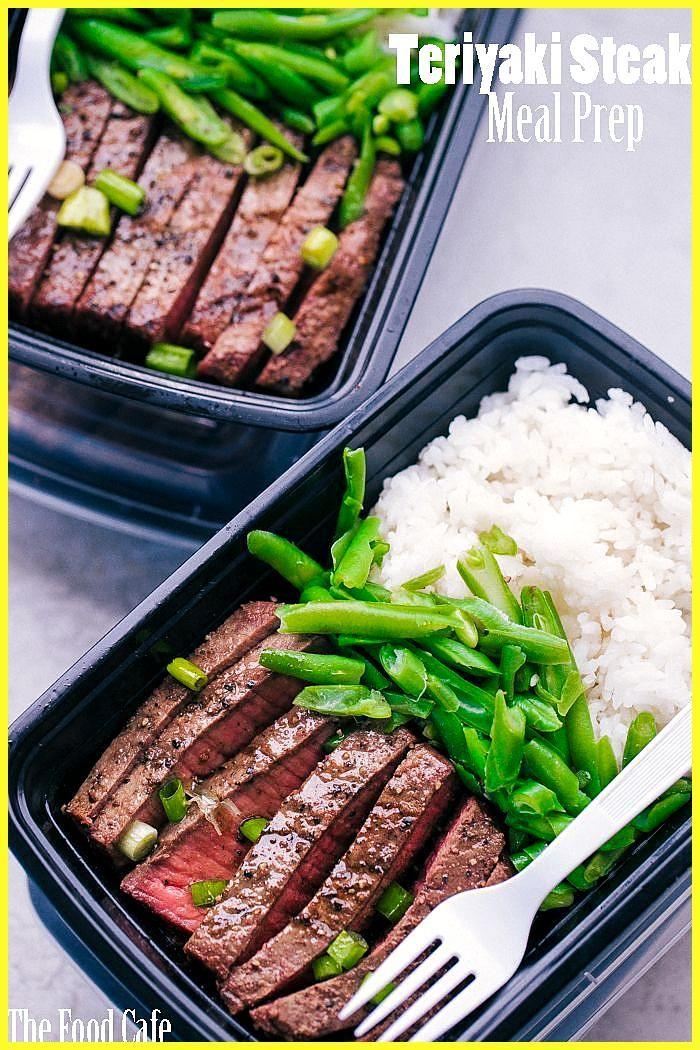 Mit diesem Teriyaki Steak Meal Prep bleiben Sie die ganze Woche über auf dem Laufenden … #auf #bleib...
