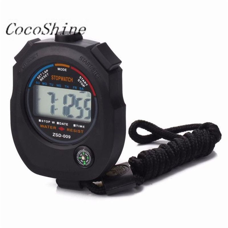 CocoShine A-923 Waterproof Digital LCD Stopwatch Chronograph Timer Counter Sports Alarm wholesale Free shipping